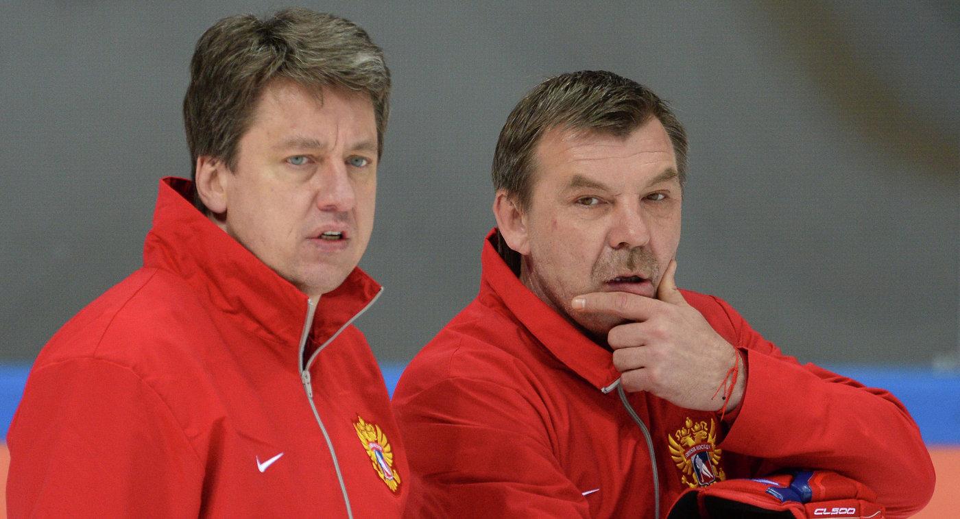 Харийс Витолиньш и Олег Знарок (справа)