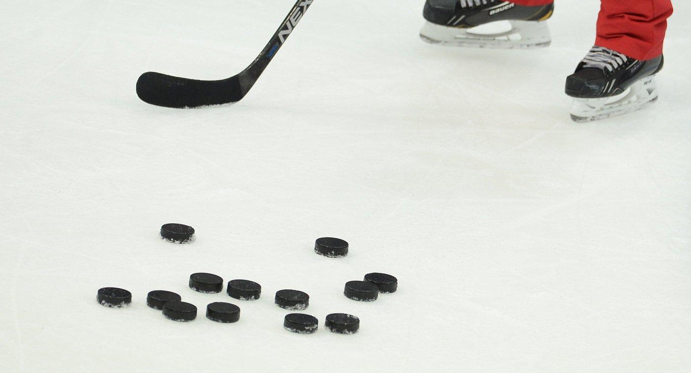 Тренировка сборной России по хоккею
