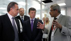 Виталий Мутко, Дмитрий Козак и Григорий Родченков (слева направо)
