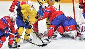 Игровой момент матча Норвегия - Швеция