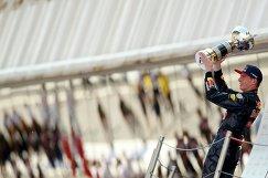 Пилот Ред Булл Макс Ферстаппен после победы на Гран-при Испании