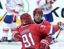 Хоккеисты сборной России Сергей Федоров (слева) и Павел Буре