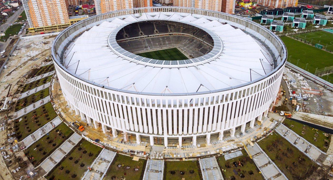 Строящийся стадион ФК Краснодар