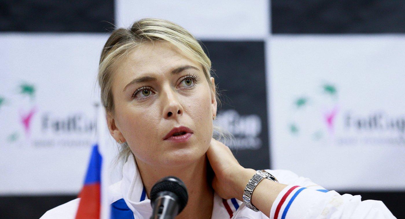 Теннисистка женской сборной России Мария Шарапова