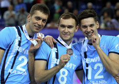 Алексей Кулешов, Сергей Багрей и Виктор Полетаев (слева направо)