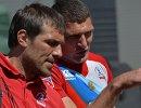 Главный тренер мужской сборной России по регби-7 Андрей Сорокин (слева) и игрок сборной России Антон Рудой