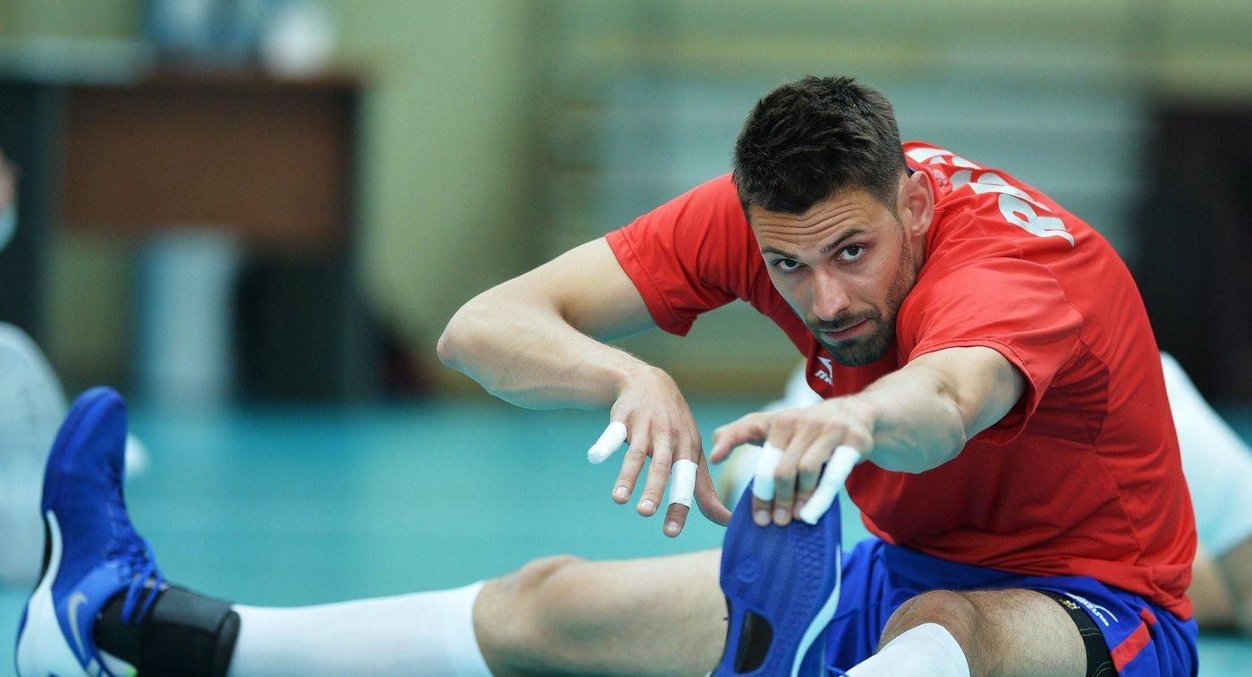 Доигровщик мужской сборной команды России по волейболу Лукаш Дивиш