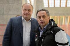 Министр спорта РФ Виталий Мутко (справа) и заместитель министра спорта РФ Юрий Нагорных