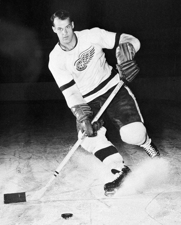 Горди Хоу в составе Детройт Ред Уингз, 1956 год