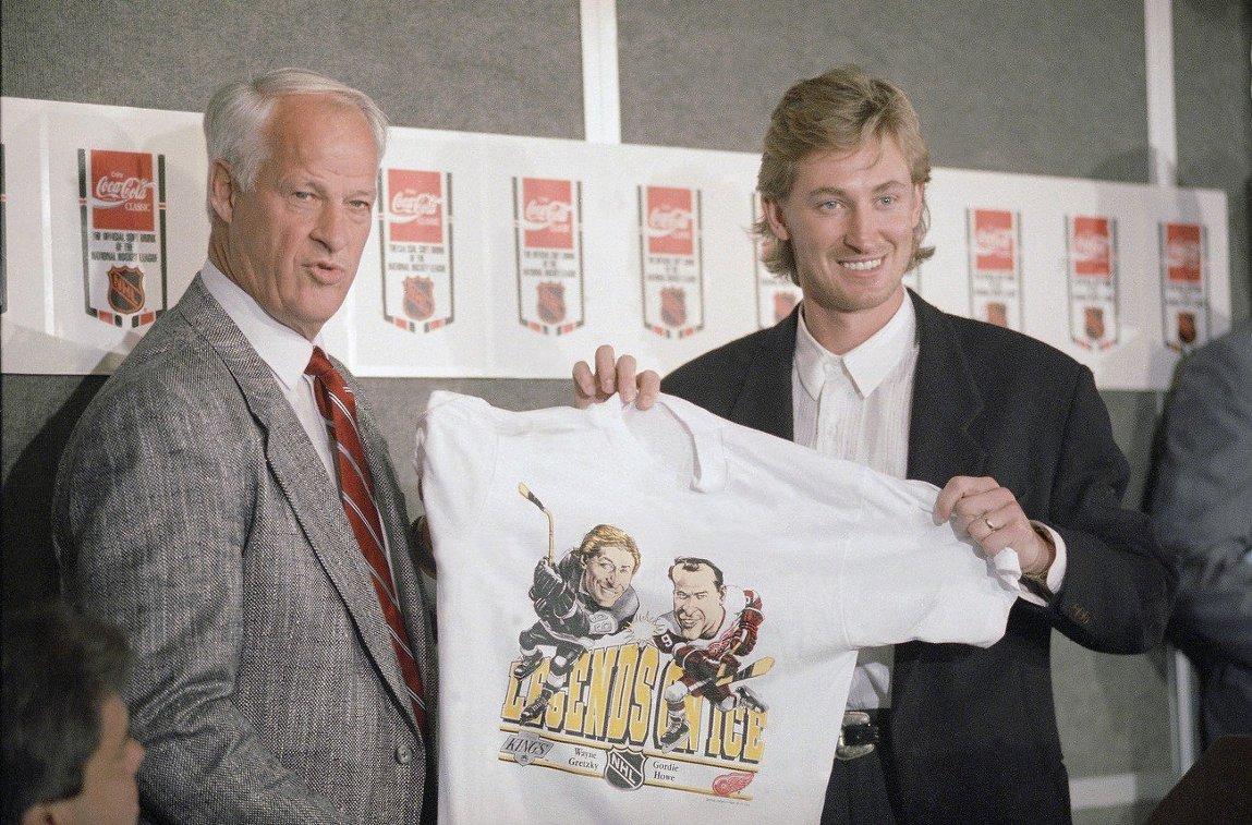 Горди Хоу и Уэйн Гретци, 1989 год