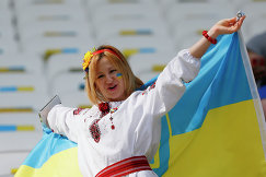 Болельщица сборной Украины