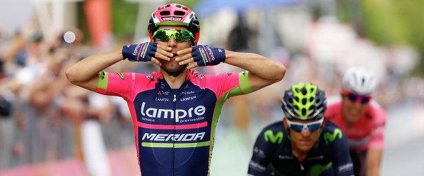 Итальянский велогонщик Диего Улисси из команды Lampre-Merida