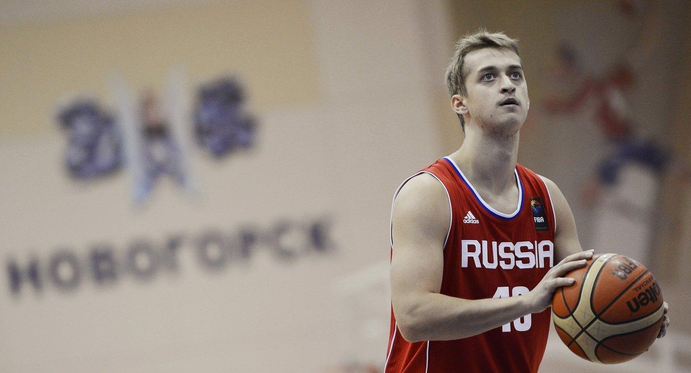 Защитник сборной России по баскетболу Дмитрий Хвостов