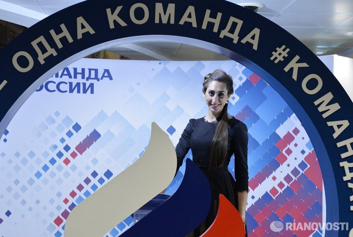 Российская спортсменка Екатерина Конева на Балу олимпийцев России – 2015 в Москве