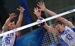 Волейболисты сборной России Виктор Полетаев (слева) и Дмитрий Мусэрский.