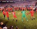 Футболисты сборной Аргентины после победы в финале Кубка Америки