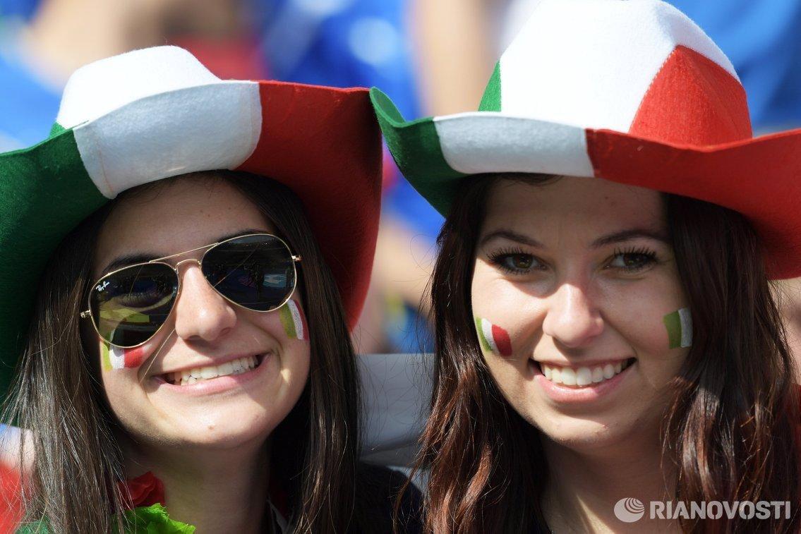 Итальянские болельщицы