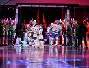 Хоккеисты СКА перед началом матча