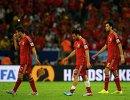 Футболисты сборной Испании после поражения от чилийцев