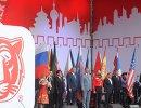 Почетные гости во время церемонии старта ралли Шелковый путь - 2016