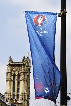 Рекламный баннер с символикой чемпионата Европы