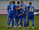 Футболисты Динамо радуются забитому голу